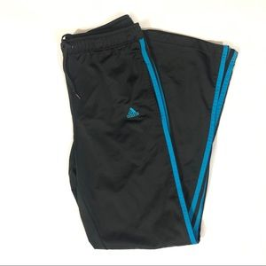 Adida track pants black and blue size Small